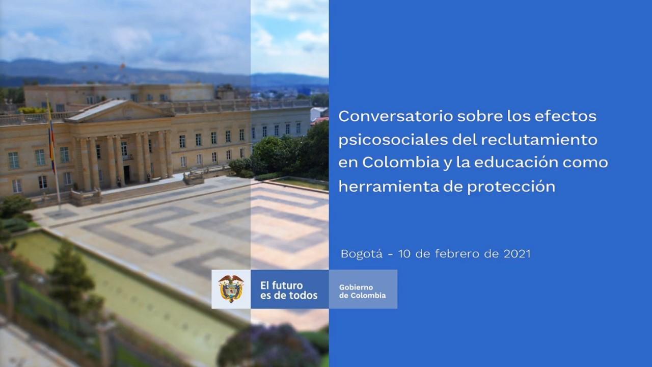 Rector Hugo González invitado en conversatorio de la Consejería Presidencial de los Derechos Humanos