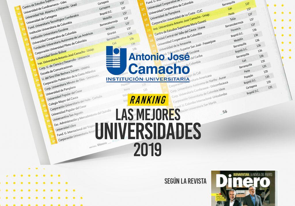 UNIAJC Dentro del Ranking de las Mejores Universidades del País 2019.