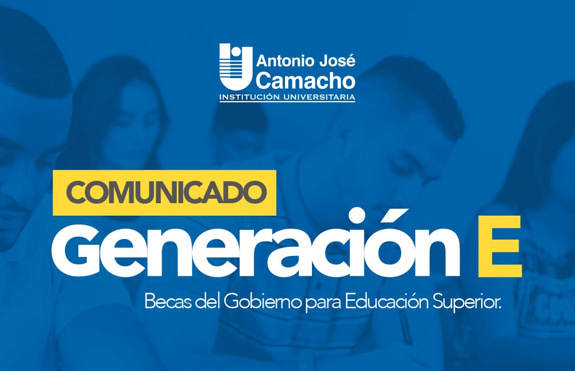"""Beneficiarios """"Generación E"""""""