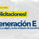 "Resultados becas ""Generación E"""