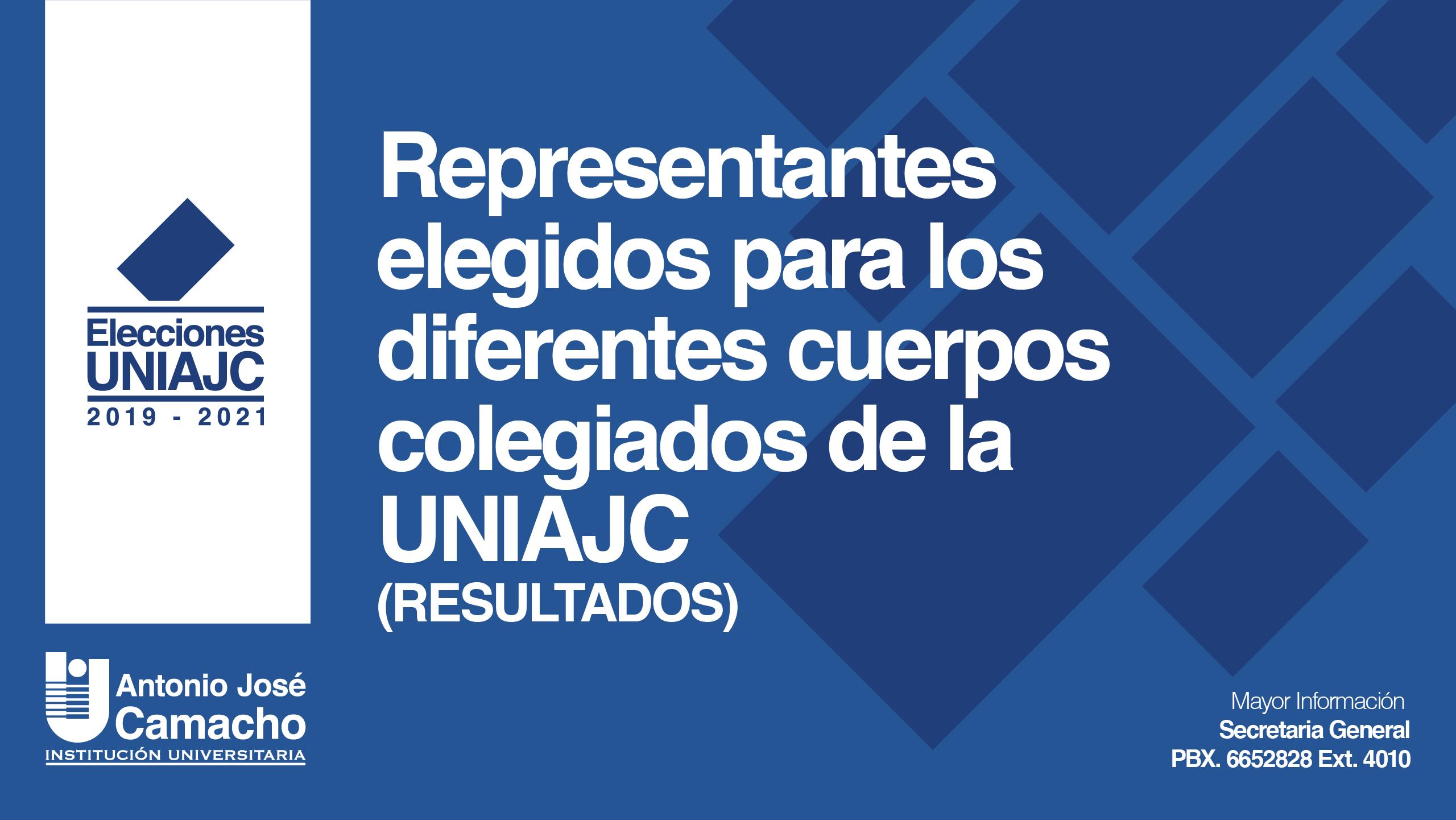 Resultados Elecciones UNIAJC 2019