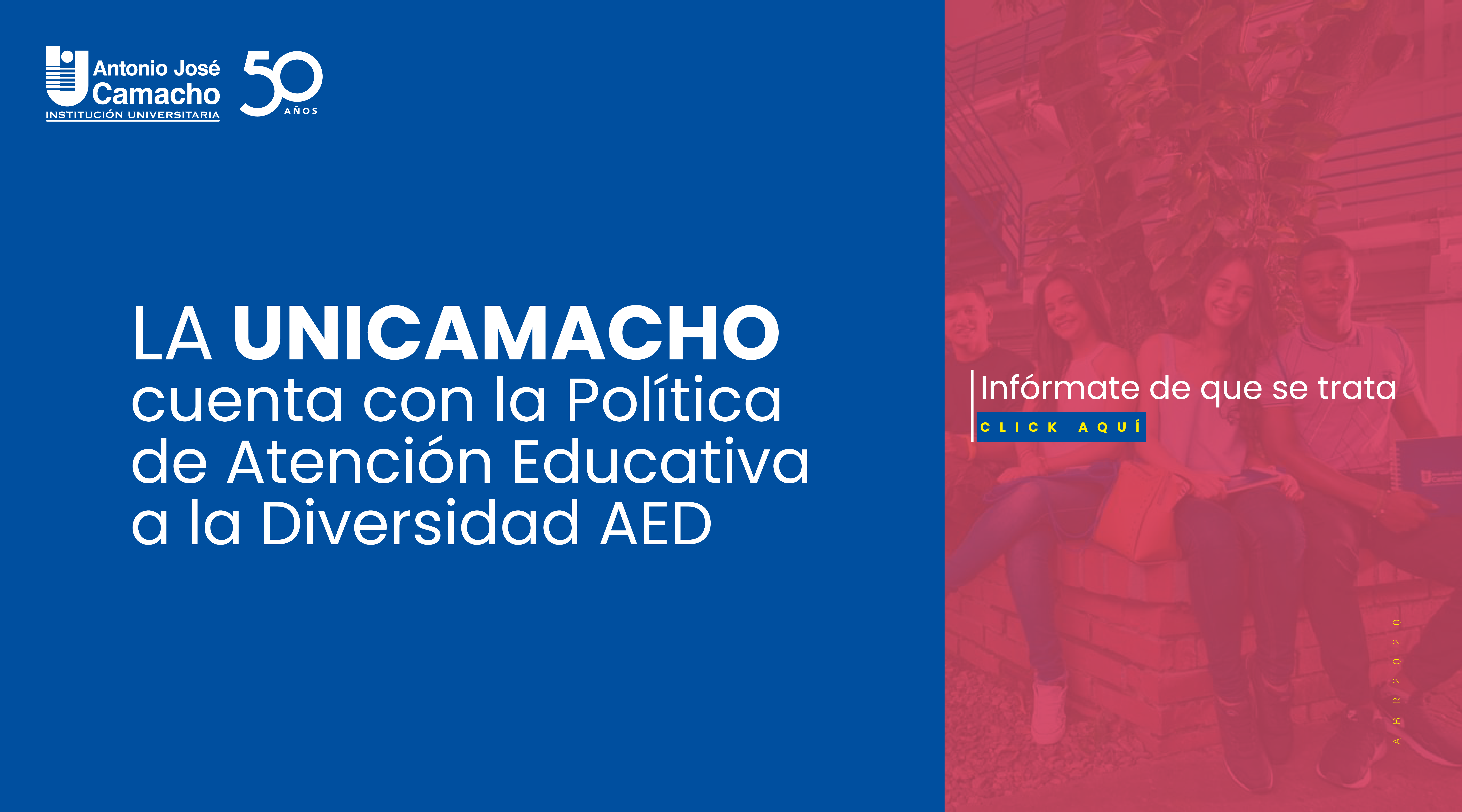La UniCamacho cuenta con la Política de Atención Educativa a la Diversidad